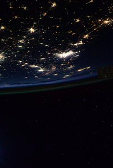 Astronaut Scott Kelly tweeted this picture of Texas from space.