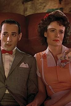 Diane Salinger as Simone and Paul Reubens as Pee-wee Herman in 'Pee-wee's Big Adventure.'