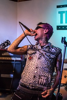 """The Semi-Automatics performed at the """"Terror in Taco Town"""" exhibit opening at Tex Pop last weekend."""