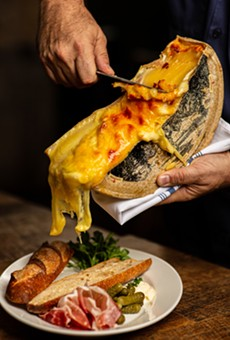 Raclette and baguette at Brasserie Mon Chou Chou.