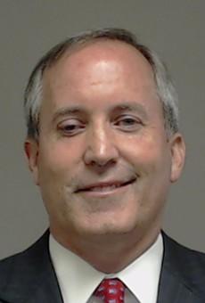 Texas Attorney General Ken Paxton's mugshot.