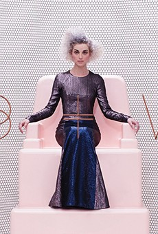 St. Vincent on the cover of her 2015 self-titled album