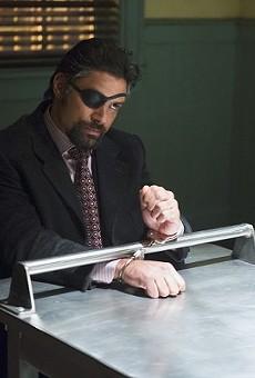 Manu Bennett as Slade Wilson/Deathstroke in season 3 of Arrow.