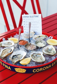 Shuck Shack's bivalve selection changes often, but always features something fresh.