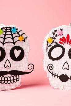 Feliz Modern POP iss selling DIY skull piñatas designed by local artists Manola & Maria and Lua Bash.