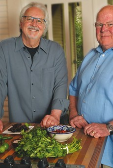 Chris Waters Dunn (left) and Cappy Lawton (right), authors of Enchiladas: Aztec to Tex-Mex