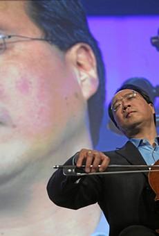 Yo-Yo Ma, widely considered the world's greatest cellist, feelin' it...hard.