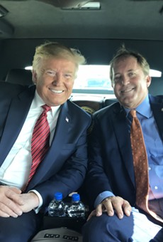 Ken Paxton, shown here with President Donald Trump, is co-chair of the Lawyers for Trump coalition.