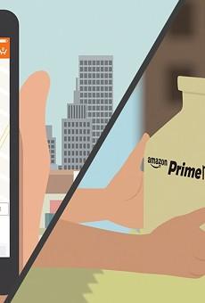 Amazon Prime Now is available in San Antonio.