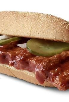 Rib-shaped pork patty fans rejoice: McDonald's bringing back cult favorite McRib Sandwich