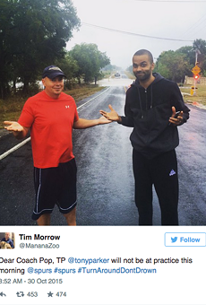 Flooding Forces Tony Parker to Turn Around, Not Drown