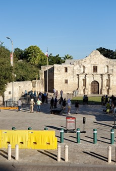 Temporary fencing installed at the Alamo 'as a security precaution'