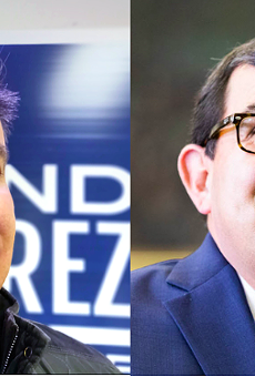 Democratic Texas Rep. Roland Gutierrez (left) scored a victory against first-term Texas Sen. Pete Flores (right), a Republican.