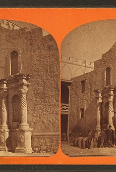 The Alamo in the mid-1800s, after a French businessman bought the convento.