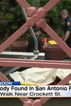 A body was floating in San Antonio River today in the heart of the River Walk.