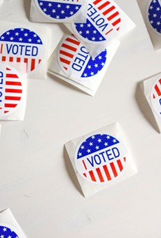Texas Democratic Party officials said they were surprised to learn that Republican voters were also eligible for free stickers at the polls this election cycle.