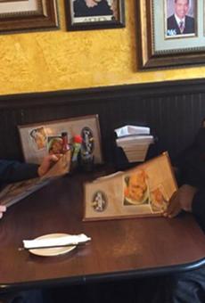 Bernie Sanders and Killer Mike in an Atlanta soul food restaurant