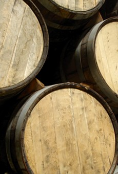 Tequila barrels full of delicious tequila. Smiley face.