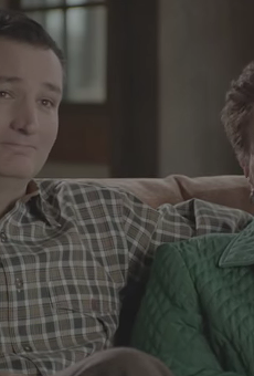 Ted Cruz and his mother, Eleanor Darragh.