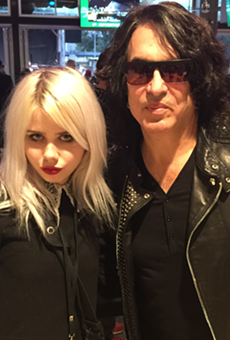Our freelancer Shannon Sweet with the Paul Stanley.