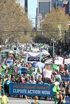 This photo shows a 2014 climate change march.