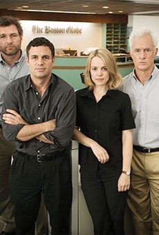 Spotlight takes a spot in the pantheon of journalism flicks.