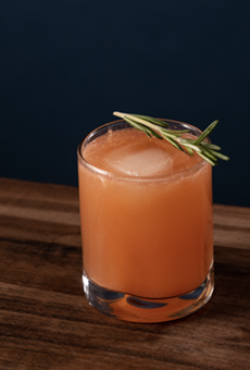 The winning cocktail features a generous pour of Garrison Brothers bourbon touched with notes of fruit and rosemary.