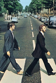 The cover of Abbey Road, said to depict a funeral procession