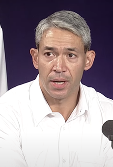 Mayor Ron Nirenberg discusses the city's pandemic enforcement efforts during Tuesday's press briefing.