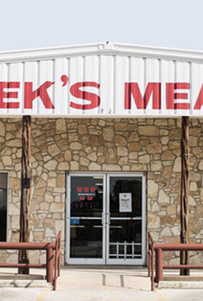 The flagship location of Wiatrek's Meat Market in Poth, Texas.