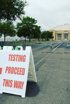 COVID-19 testing site at Freeman Coliseum in San Antonio
