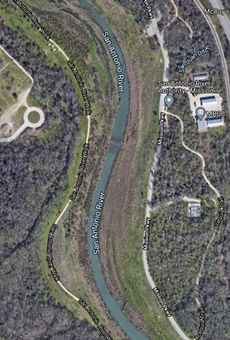 A ruptured pipe near 8510 Mission Parkway spilled sewage into the San Antonio River.