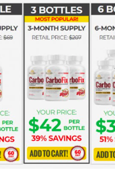 CarboFix Reviews – Gold Vida CarboFix Supplement Ingredients