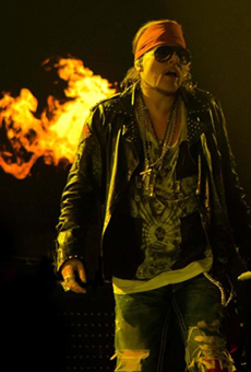 The always combustible Axl Rose, sans cornrows