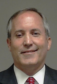Texas Attorney General Ken Paxton's mugshot from Collin County, where he was indicted on two felony charges of securities fraud.