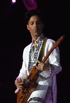 Prince performing at Coachella.
