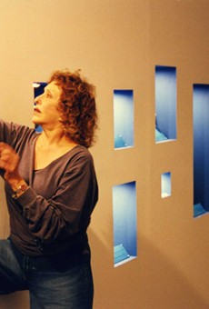 Carolee Schneemann during her 1999 Artpace residency.