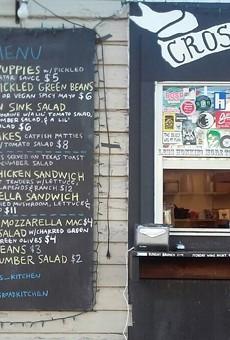 A February menu at Crossroads Kitchen.