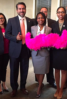 It was all smiles when Lyft and Uber came back to San Antonio.