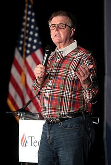 Lt. Gov. Dan Patrick stumping for Sen. Ted Cruz in February.