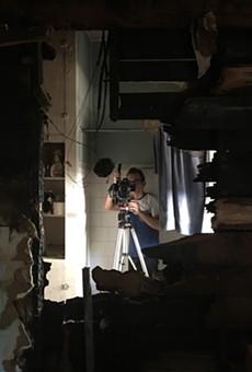 Filmmaker Mark Walley documents the damage inside Casa Chuck