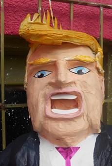 An original Trump pinata from Pinateria Ramirez.