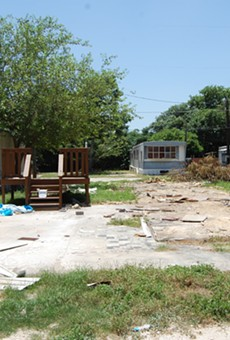 Some mobile homes have already been removed from the Plaza Mobile Home Park.