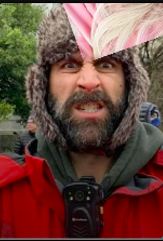 Matthew Mazzocco was seen in this TikTok video which purports to show him participating the Capitol insurrection.