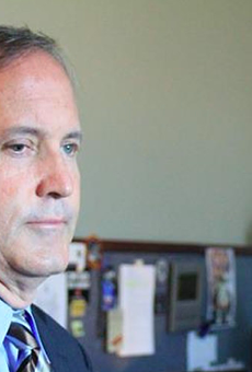 Texas Attorney General Ken Paxton contemplates all the lawsuits he's going to get to file.
