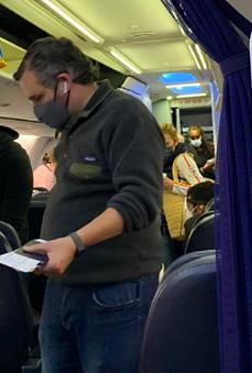 Photos purport to show Ted Cruz on flight to Cancun, as Texans endure power failure