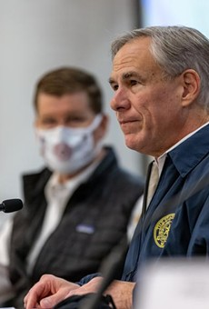 Gov. Greg Abbott speaks at a press conference regarding Texas' emergency response to an unprecedented winter storm gripping Texas on Feb. 13, 2021. Abbott himself might not have been paying close attention to electricity and water and gas a couple of weeks ago, but the people who are paid to pay attention report to him. Credit: