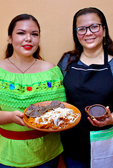Mother and daughter team at the helm of thriving Veracruz eatery Naku, Antojeria Huasteca, Abigail Sánchez Arellano and Yuritzi López Sánchez