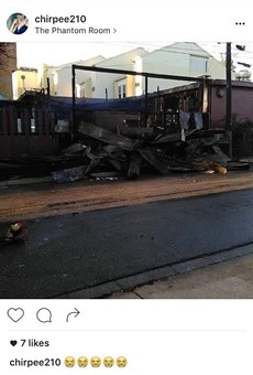 Phantom Room Succumbs to Wednesday Morning Fire