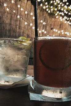 Cocktails on the patio at Lowcountry